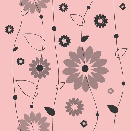 graphic pattern: Floral seamless pattern, Graphic design element.