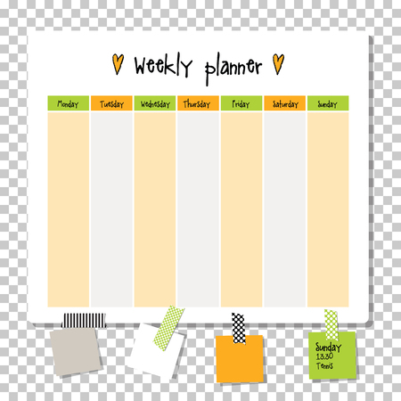 timetable: Weekly planner. Note paper, Notes, to do list. Organiser planner template. Note paper. New year and Christmas time.