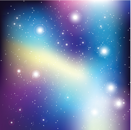 starfield: Universe with stars. Matrix of glowing stars. Space background.