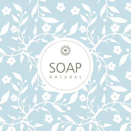 Contexte de savon artisanal naturel
