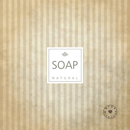 handmade soap: Background for natural handmade soap. Illustration