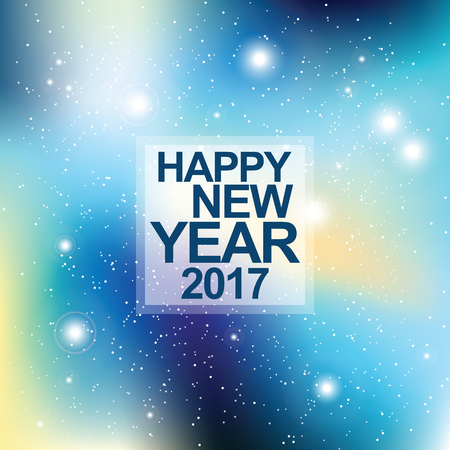 New year card. Universe with stars. Matrix of glowing stars. Space background. Illustration