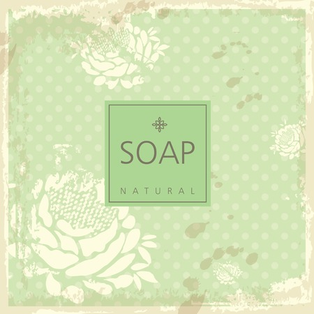 handmade soap: Vector background for natural handmade soap, decorative paper