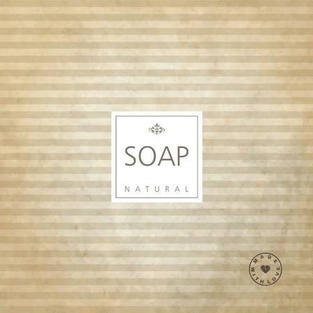 fashion art: Background for natural handmade soap. Illustration