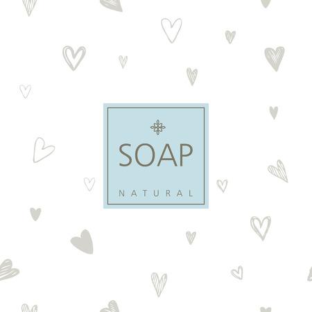 sticker design: Background for natural handmade soap
