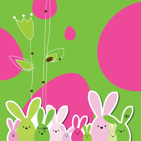 traditional pattern: Easter card with copy space. Floral background.