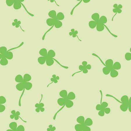 seamless clover: Clover seamless pattern