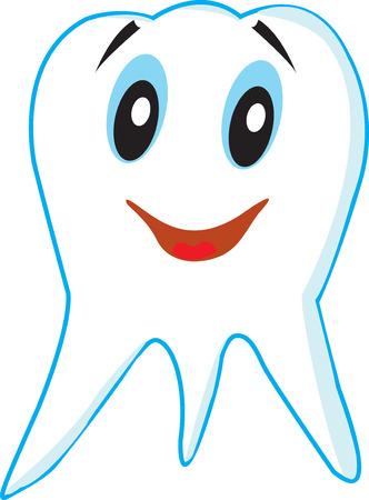 no teeth smile: joyful healthy tooth Illustration