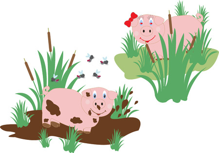 twain: funny pig lovers in the swamp