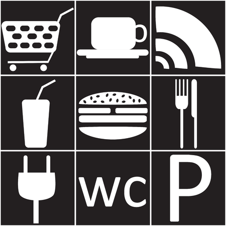 refueling: Icons of service for refueling Illustration