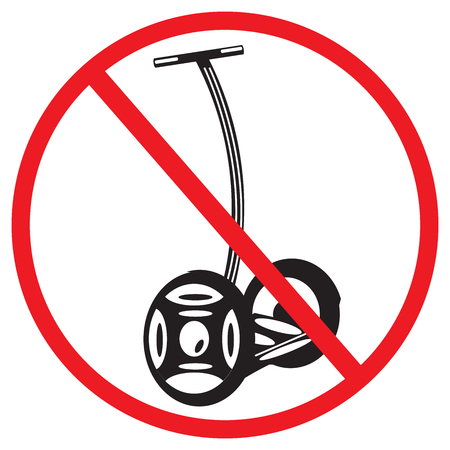 sign Electric scooters prohibited