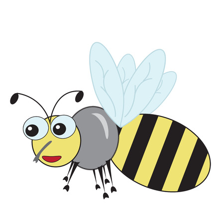 Good Fun Bee On A White Background Vector