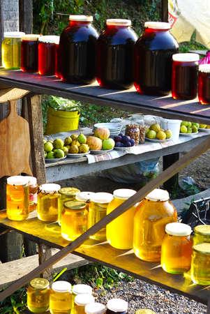 A street side market in rural Georgia. Stock Photo