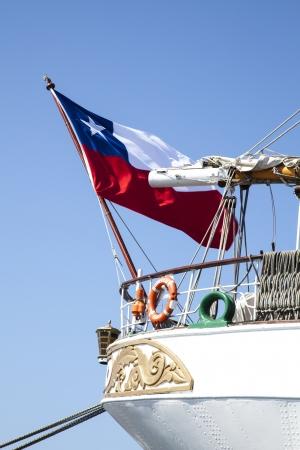 chilean flag: bandera chilena Foto de archivo
