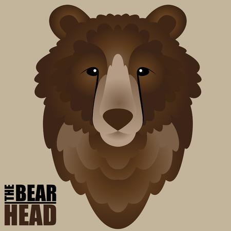 Vector illustration of a bear head