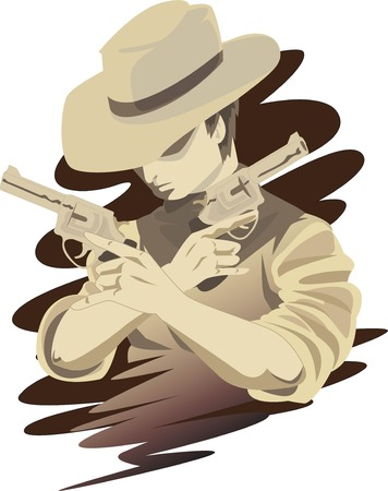 illustration of a cowboy