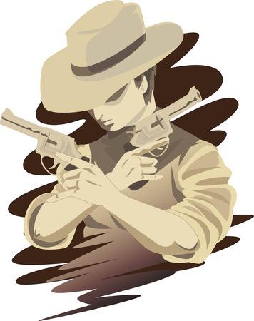 unbeatable: illustration of a cowboy