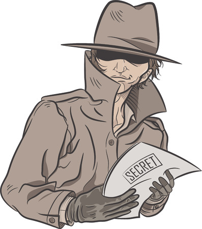 illustration of a detective