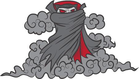 vlad: illustration of Dracula in smoke