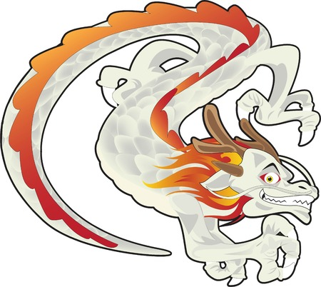 illustration of a Chinese dragon Vector