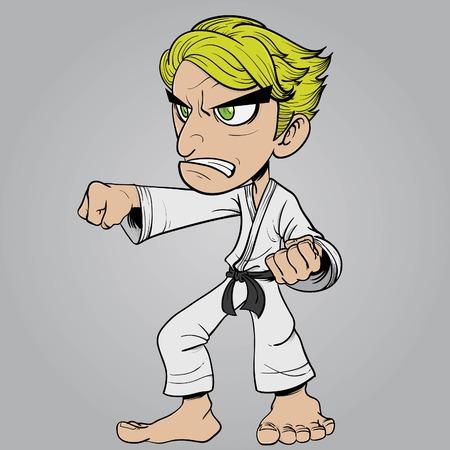 illustration of a karate athlete Illustration