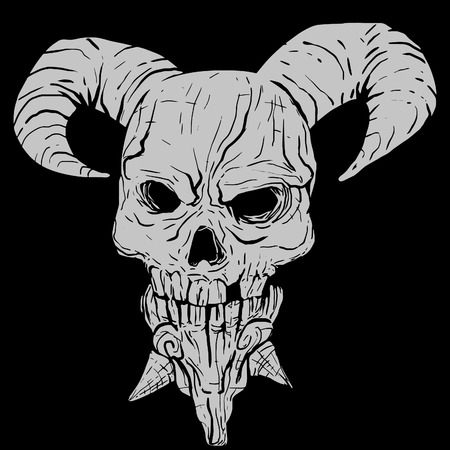 lucifer: Vector illustration of a demon skull