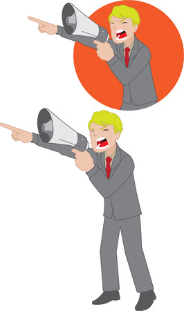 Illustration of man with megaphone, available on full illustration and on a icon Vector