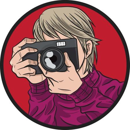 digital slr: photographer illustration