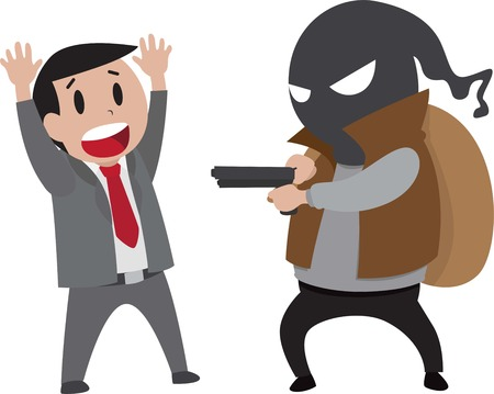 hostage: illustration of a robber