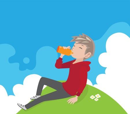 take a break: man take a break after exercise