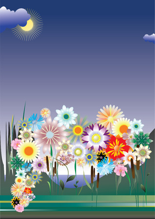 cordiality: Greeting card. Summer day.