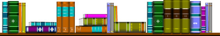 illustration bookcase library furniture vector book Stock Vector - 3093254
