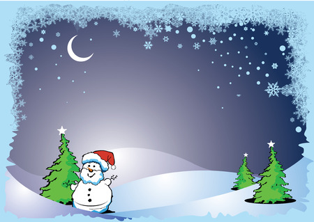 Greeting card for Merry Christmas or Happy New Year with place for text Stock Vector - 3097003