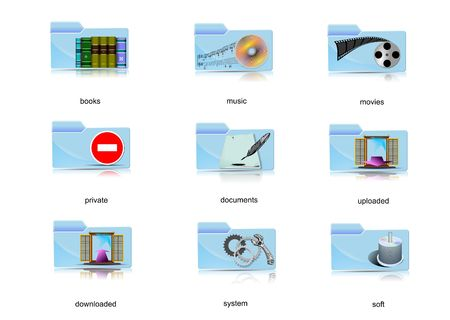Set of various icon for computer or Internet Stock Photo - 3132127