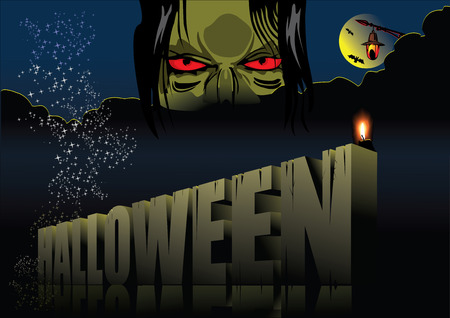 Halloween - Holiday celebrated on the night of October 31 Vector