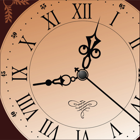 midnight hour: Antique looking clock face