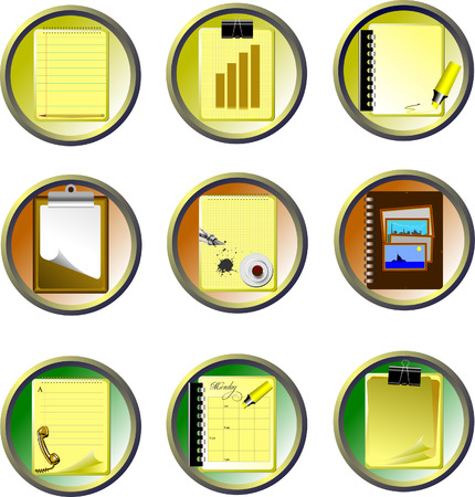Vector Nine Office and Business icons. Help for designers and web-designers Vector