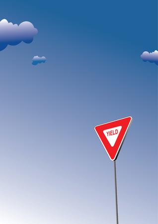 ceda: Rendimiento signo. El tr�fico por carretera signo s�mbolo