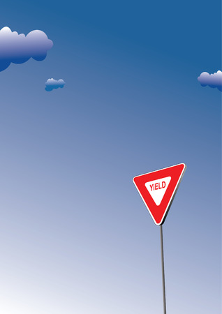 obey: Yield sign. Traffic road sign symbol