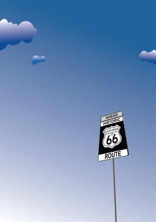 66: Route 66 sign. Traffic road sign symbol Illustration