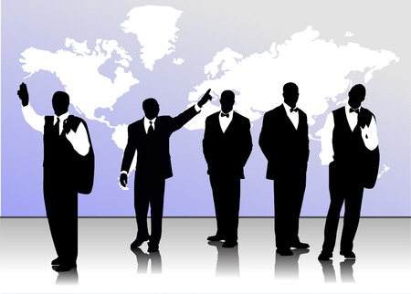 Business handsome men  silhouettes Stock Vector - 3775919