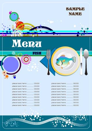 serviette: Fish Restaurant (cafe) menu