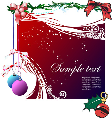 Greeting card for Merry Christmas or Happy New Year Stock Vector - 3796330