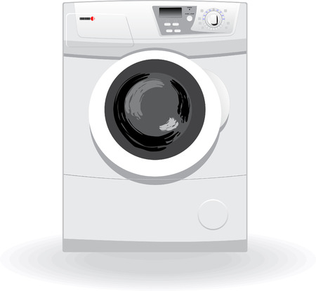 washing machine: Lavadora ilustraci�n vectorial