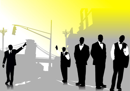 Business people silhouettes vector illustration Vector