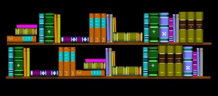 book shop: Vector illustration bookshelf library  Illustration