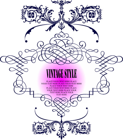 Vintage frame vector illustration Stock Vector - 3813802