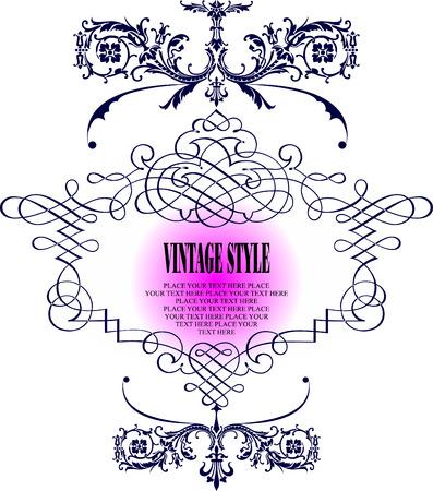 frame vector: Vintage frame vector illustration