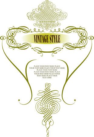 Vintage frame vector illustration Stock Vector - 3813804