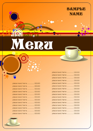 serviette: Restaurant (cafe) menu vector illustration